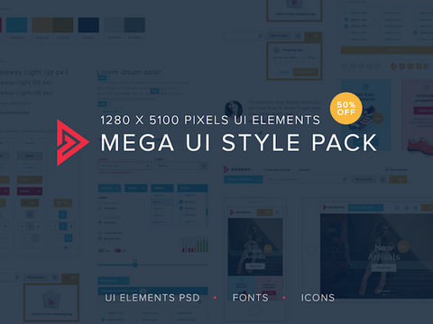 Mega UI style pack - Design Resources