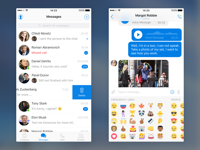 Messenger UI Kit for iOS - Design Resources