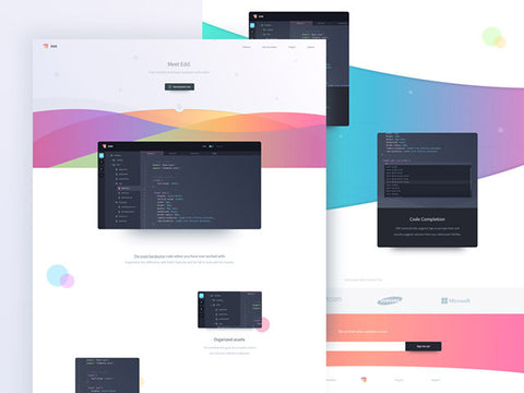 Edd: Landing page design for showcasing apps