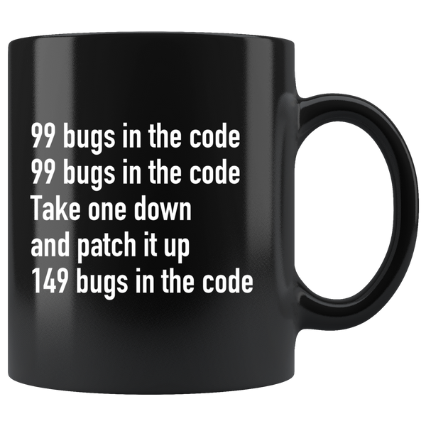 99 bugs in the code mug - Design Resources