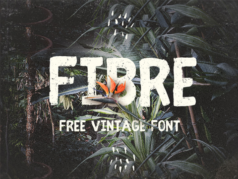 Fibre Free  Handwritten Vintage Font - Design Resources