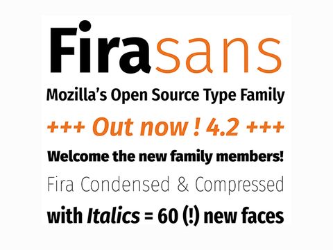 Fira Sans: A new free font family by Mozilla - Design Resources
