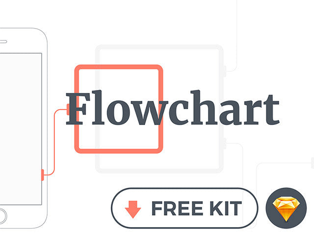 Flowchart: Free mobile wireframe kit for Sketch - Design Resources