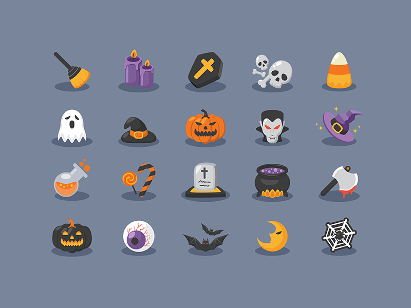 (FREE!!) Halloween Icons - Design Resources