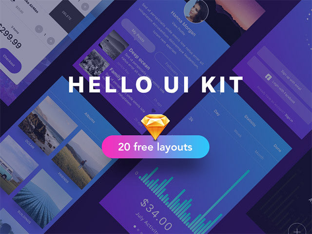 Hello: A UI kit sample for Sketch - Design Resources