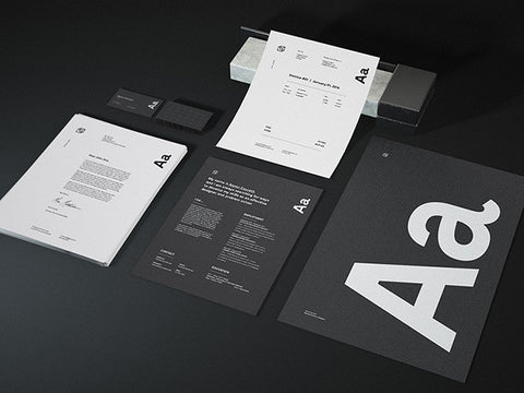 Granite Stationary mockup - Design Resources