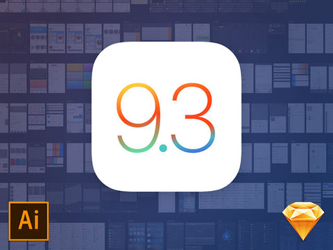 iOS 9.3 UI kit for Illustrator - Design Resources