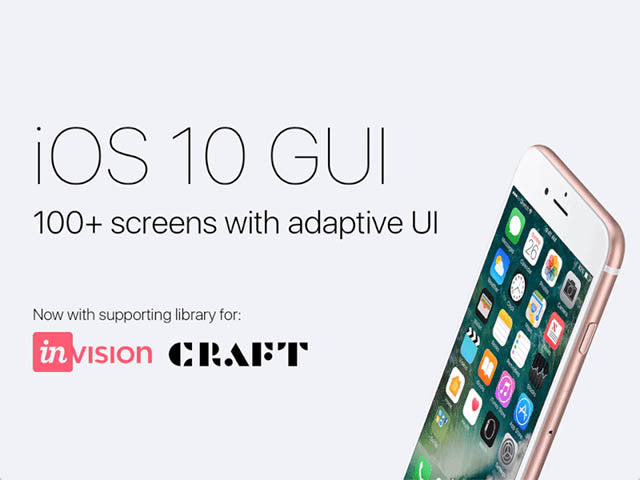 iOS 10 GUI: 100+ screens for Sketch with adaptive UI - Design Resources