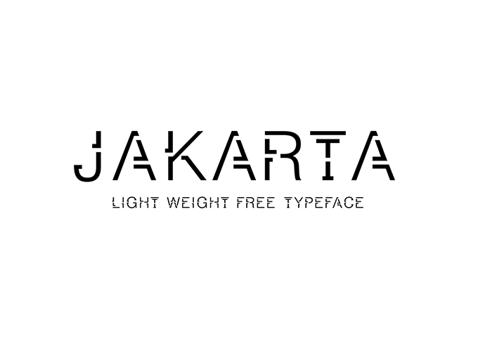Jakarta: A free light weight font - Design Resources
