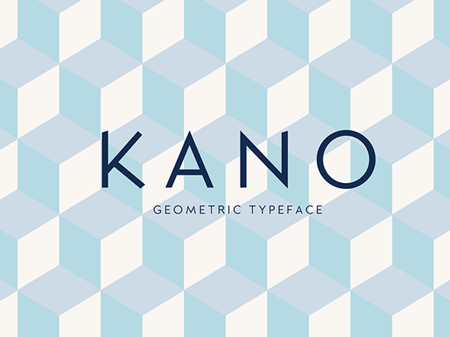 Kano: Free geometric font - Design Resources