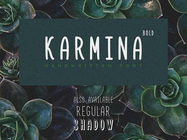 Karmina Bold: Handwritten font - Design Resources