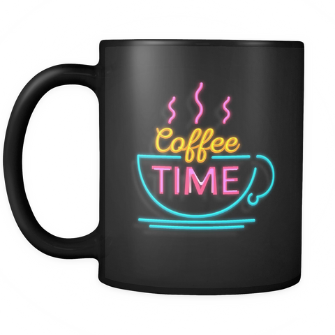 Neon Coffee Time mug