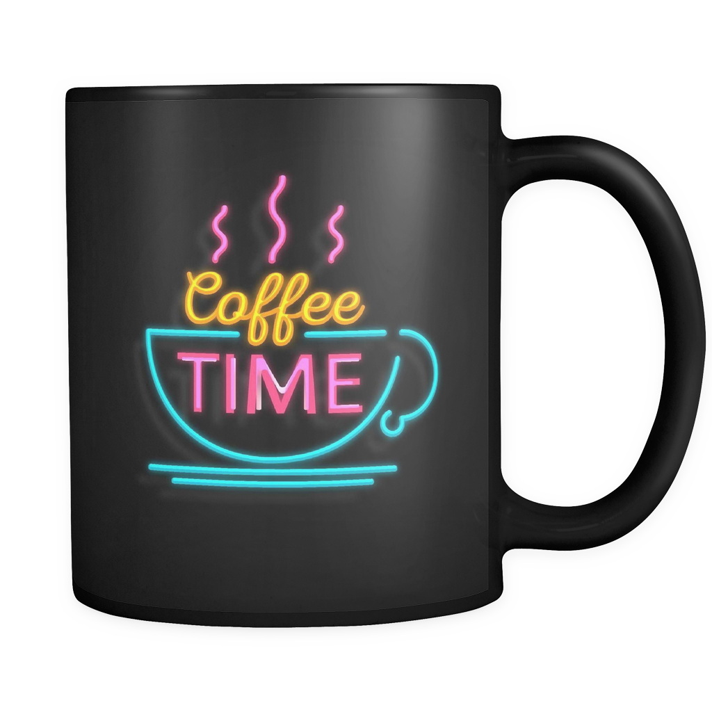 Neon Coffee Time mug - Design Resources