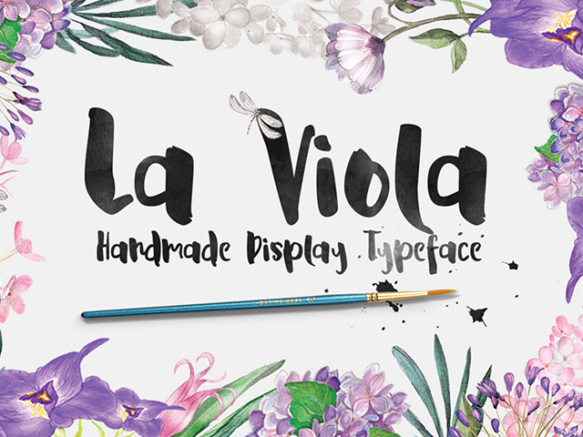 La Viola - Free Script Display Font - Design Resources