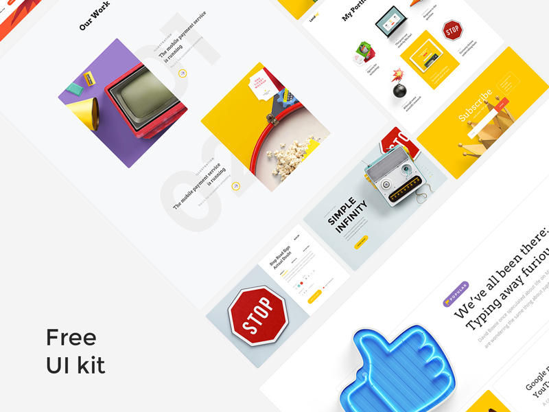 Landing UI kit - Design Resources