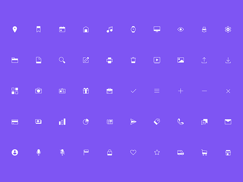 100 Free line and solid icons by Marvel - Design Resources