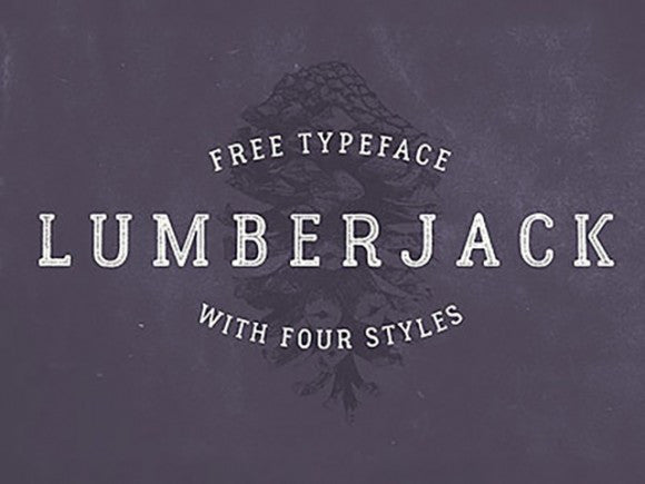 Lumberjack: Free typeface with 4 styles - Design Resources