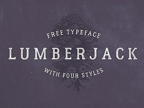 Lumberjack: Typeface with 4 styles - Design Resources