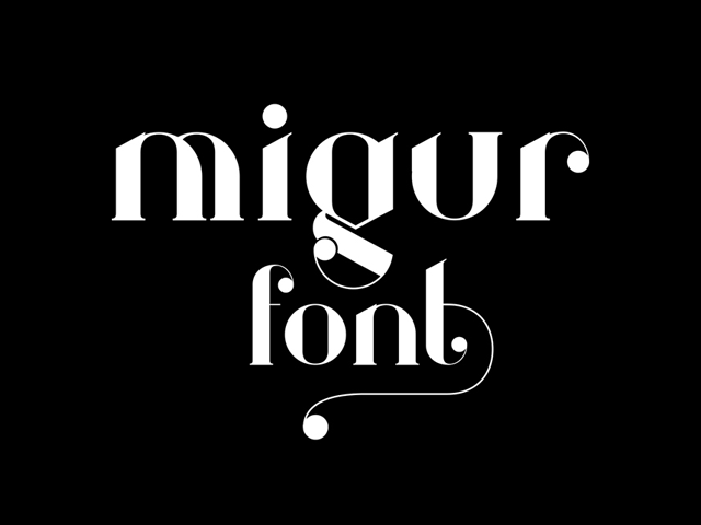 Migur: A free elegant serif font - Design Resources