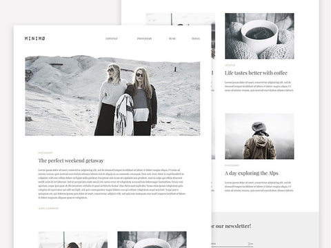 Minimo: A minimal blog template - Design Resources