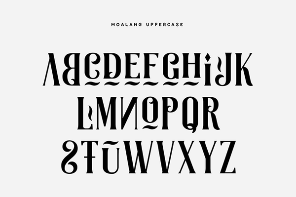 Moalang: An decorative font - Design Resources