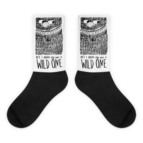 Wild one black foot socks - Design Resources
