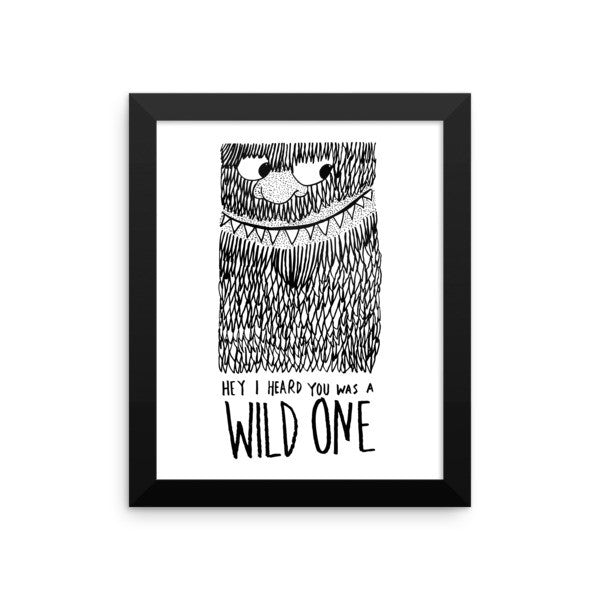 Wild One Framed poster - desket. - 1