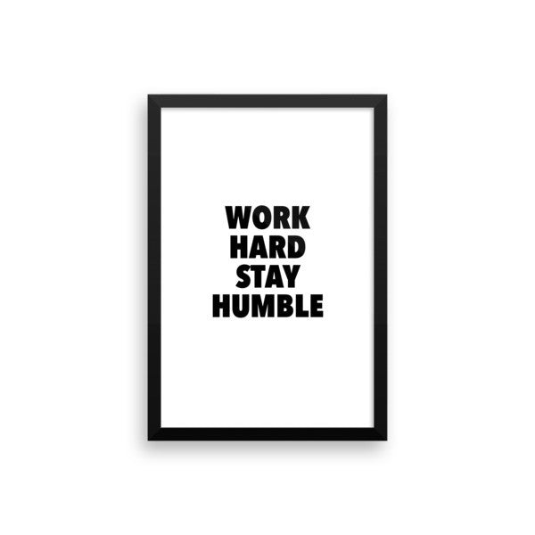 Work hard framed poster - desket. - 13