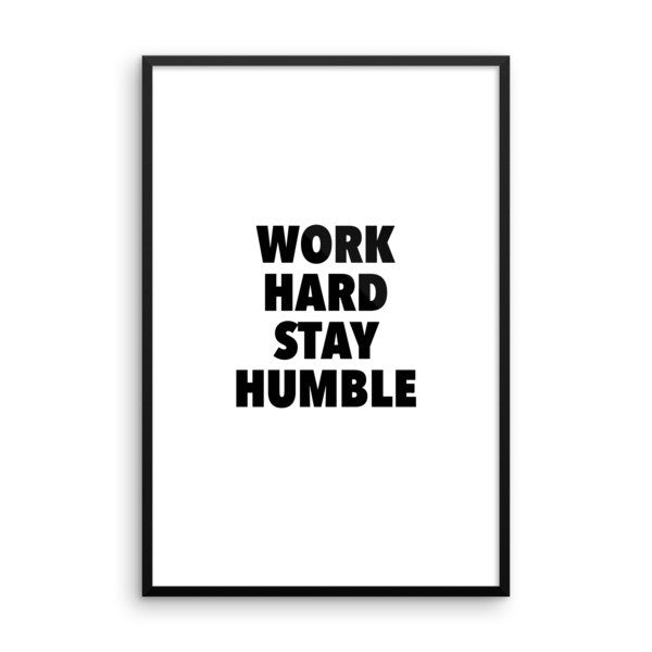 Work hard framed poster - desket. - 14