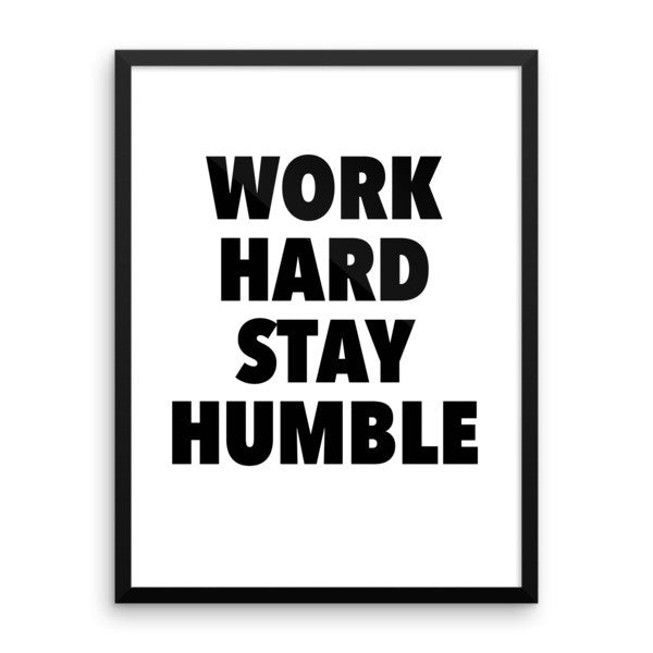 Work hard framed poster - desket. - 12