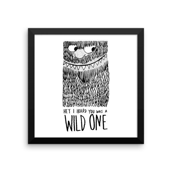 Wild One Framed poster - desket. - 5