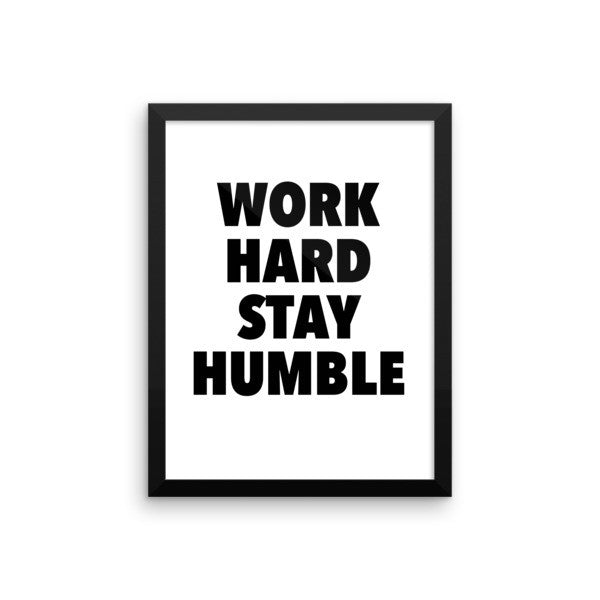Work hard framed poster - desket. - 11