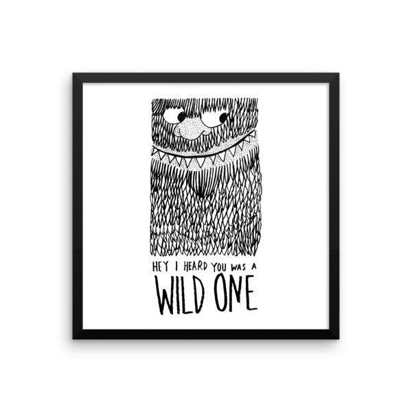 Wild One Framed poster - desket. - 9