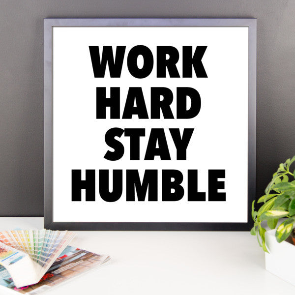 Work hard framed poster - desket. - 10