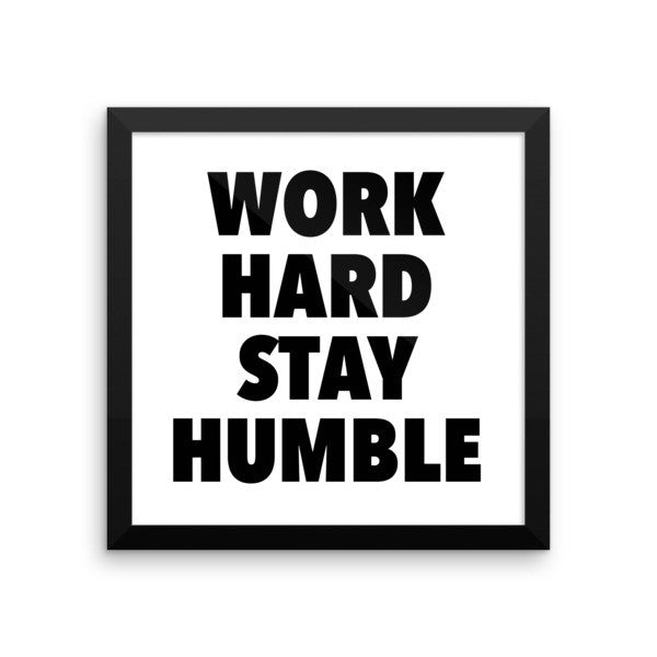 Work hard framed poster - desket. - 5