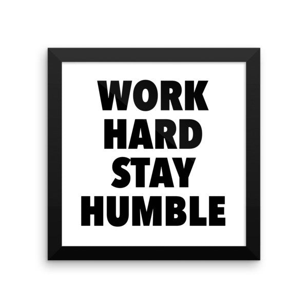 Work hard framed poster - desket. - 4