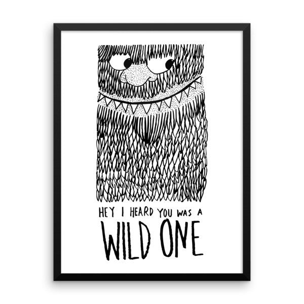 Wild One Framed poster - desket. - 12