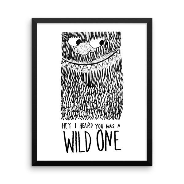 Wild One Framed poster - desket. - 3