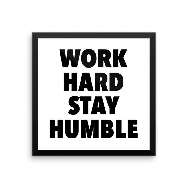 Work hard framed poster - desket. - 8