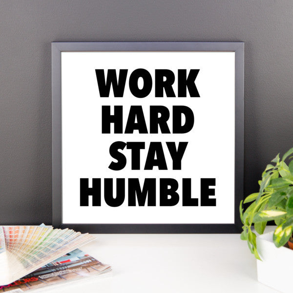 Work hard framed poster - desket. - 7