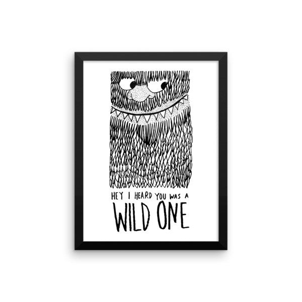 Wild One Framed poster - desket. - 11