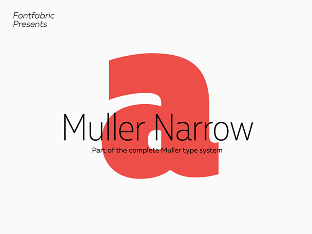 Mueller Narrow: 4 Free font styles - Design Resources