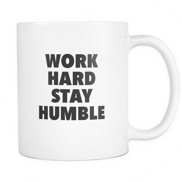 Work hard stay humble mug - desket. - 1