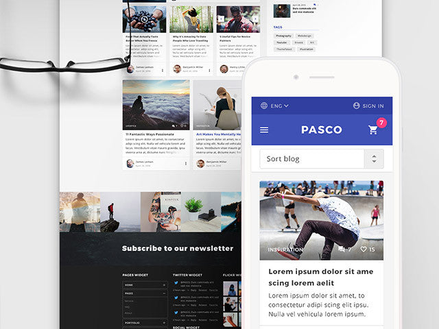Pasco: A PSD multipurpose template - Design Resources