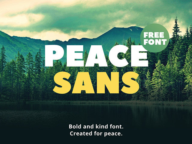 Peace Sans: Free bold font - Design Resources