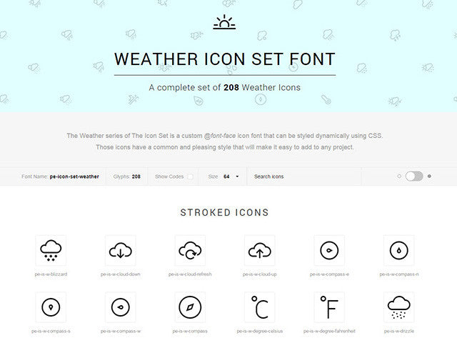 The Icons Font Set: Weather -