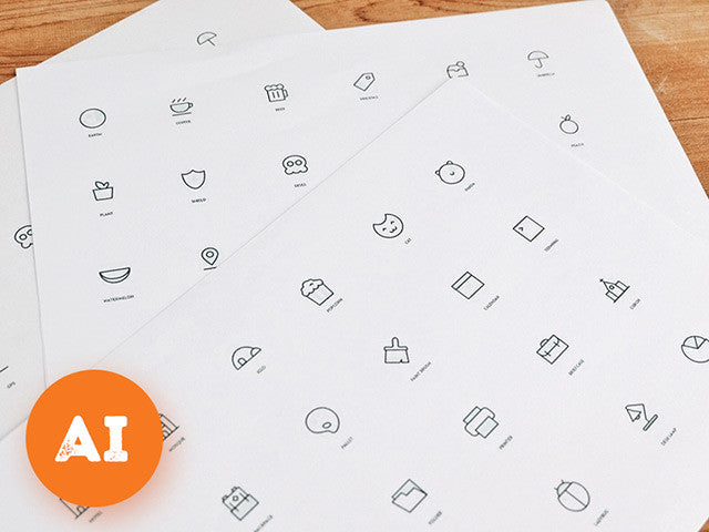 Random Stuff vol.3 – AI icons - Design Resources