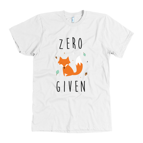 Zero fox given tshirt