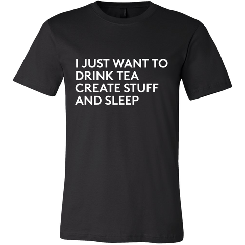 I just want to drink tea tshirt - Design Resources