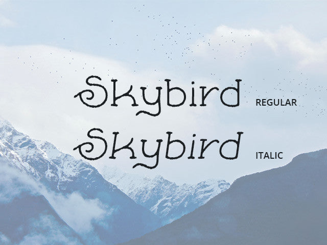 Skybird Rough: A crazy free font -